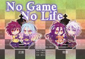 【預購】No game no life 遊戲人生 空 白 休比 里克 雙面不同圖透明亞克力掛件 我婆
