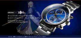 aniplexplus Fate/Grand Order 約束勝利之剣 機械錶  附手錶收藏台