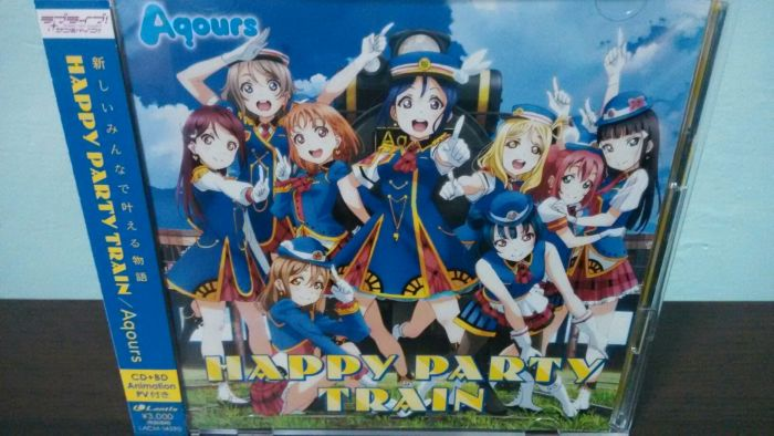 Aqours 日版 初回限定盤 CD+BD HAPPY PARTY TRAIN 黑澤露比 津島善子 國木田花丸 小原鞠莉