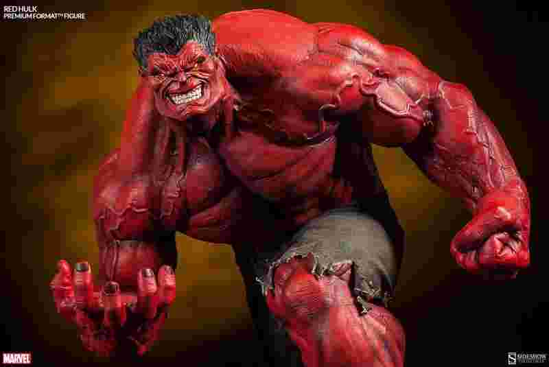 Sideshow ~MAVERL英雄系列~RED HULK紅浩克 雕像