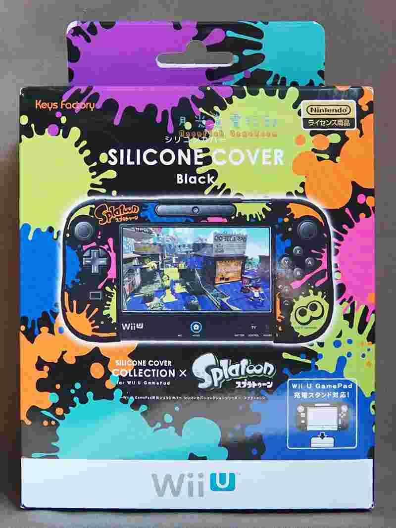 現貨全新 漆彈大作戰 Splatoon Wii U GamePad專用 矽膠 保護套 把手 主機