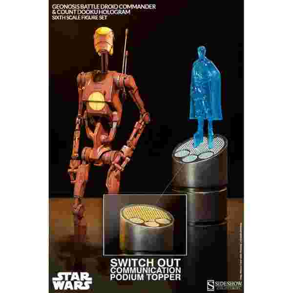 漫玩具 全新 Star Wars 星際大戰 sideshow Commander Battle Droid