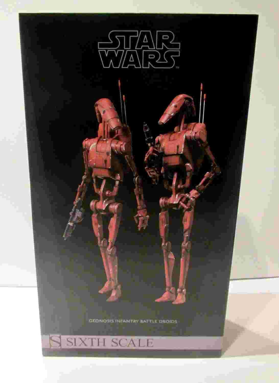 漫玩具 全新 Star Wars 星際大戰 SIDESHOW Geonosis Battle Droids 戰鬥機器人