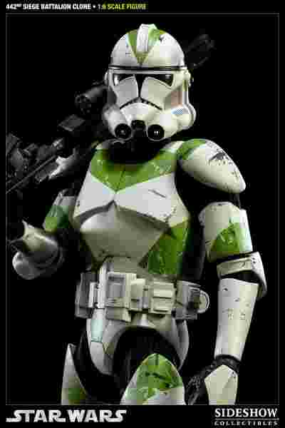 漫玩具 全新 Star Wars 星際大戰 SIDESHOW 複製人士兵 442 siege battalion