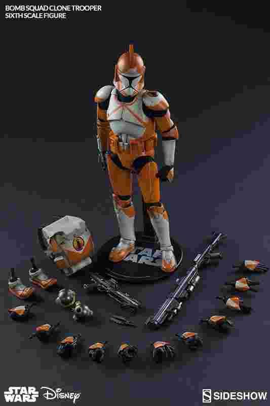 漫玩具 全新 star wars 星際大戰 Sideshow Bomb Squad Trooper 炸彈複製人白兵