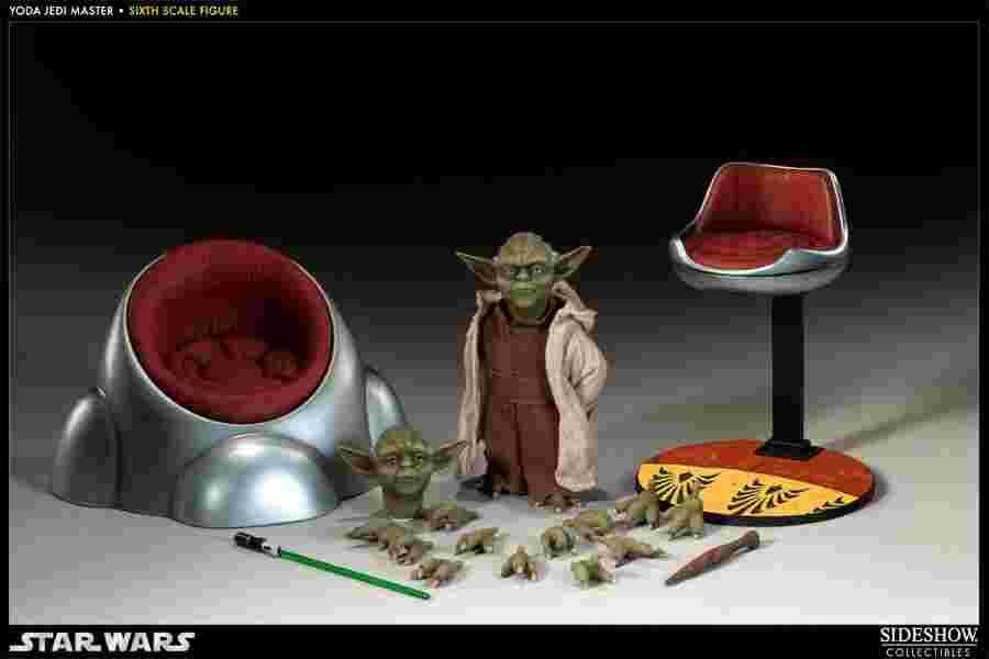 漫玩具 全新 SIDESHOW 星際大戰 STAR WARS 1/6 尤達 YODA Jedi Master