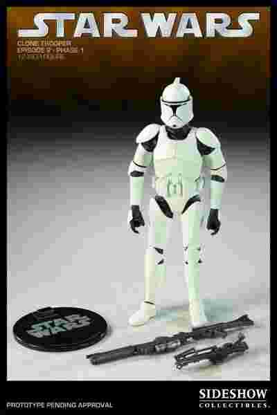 漫玩具 全新  SIDESHOW 星際大戰 STAR WARS clone trooper 白兵