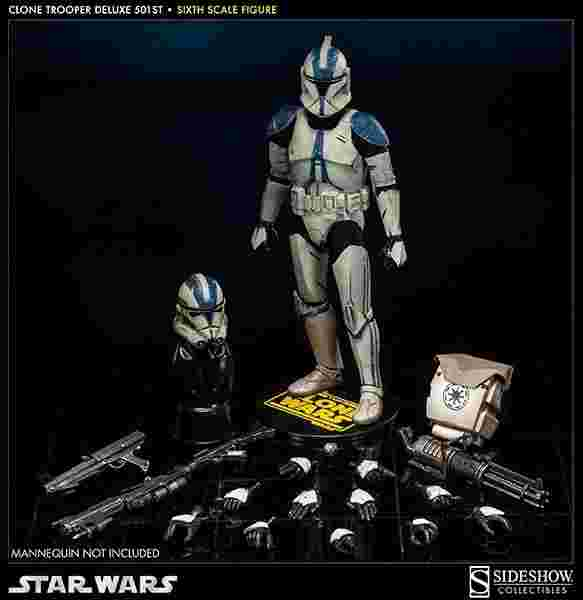 漫玩具 全新 SIDESHOW 星際大戰 STAR WARS CLONE TROOPER 501st