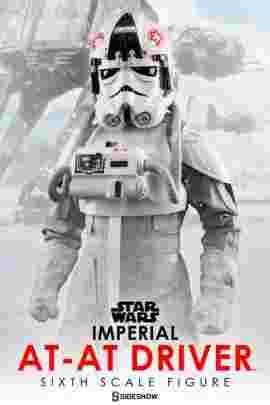 漫玩具 全新 SIDESHOW 星際大戰 Star Wars 限定版 Imperial AT AT Driver 駕駛員